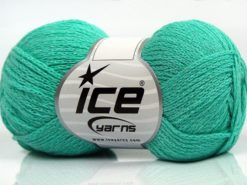 Lot of 8 Skeins Ice Yarns ELEGANT METALLIC COTTON (88% Cotton) Yarn Mint Green