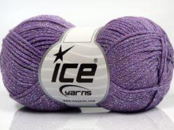 Lot of 8 Skeins Ice Yarns ELEGANT METALLIC COTTON (88% Cotton) Yarn Lilac