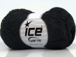 Lot of 8 Skeins Ice Yarns SUMMER FINE (67% Cotton 33% Viscose) Yarn Black