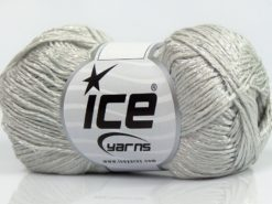 Lot of 8 Skeins Ice Yarns SUMMER FINE (67% Cotton 33% Viscose) Yarn Light Grey