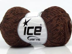 Lot of 8 Skeins Ice Yarns SUMMER FINE (67% Cotton 33% Viscose) Yarn Brown