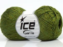 Lot of 8 Skeins Ice Yarns SUMMER FINE (67% Cotton 33% Viscose) Yarn Jungle Green