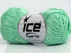 Lot of 8 Skeins Ice Yarns SUMMER FINE (67% Cotton 33% Viscose) Yarn Mint Green