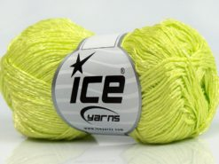 Lot of 8 Skeins Ice Yarns SUMMER FINE (67% Cotton 33% Viscose) Yarn Light Green