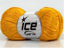 Lot of 8 Skeins Ice Yarns SUMMER FINE (67% Cotton 33% Viscose) Yarn Gold
