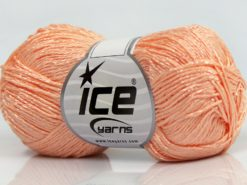 Lot of 8 Skeins Ice Yarns SUMMER FINE (67% Cotton 33% Viscose) Yarn Light Salmon