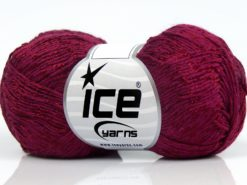 Lot of 8 Skeins Ice Yarns SUMMER FINE (67% Cotton 33% Viscose) Yarn Burgundy