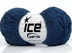 Lot of 8 Skeins Ice Yarns SUMMER FINE (67% Cotton 33% Viscose) Yarn Navy