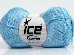 Lot of 8 Skeins Ice Yarns SUMMER FINE (67% Cotton 33% Viscose) Yarn Light Blue