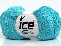 Lot of 8 Skeins Ice Yarns SUMMER FINE (67% Cotton 33% Viscose) Yarn Turquoise