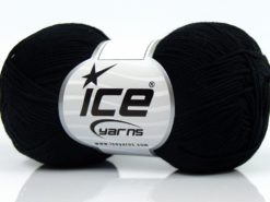 Lot of 8 Skeins Ice Yarns PURE COTTON FINE (100% Cotton) Yarn Black