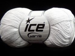 Lot of 8 Skeins Ice Yarns PURE COTTON FINE (100% Cotton) Yarn White