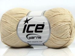 Lot of 8 Skeins Ice Yarns PURE COTTON FINE (100% Cotton) Yarn Cream