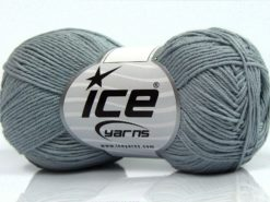 Lot of 8 Skeins Ice Yarns PURE COTTON FINE (100% Cotton) Yarn Light Grey