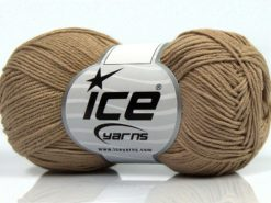 Lot of 8 Skeins Ice Yarns PURE COTTON FINE (100% Cotton) Yarn Light Camel