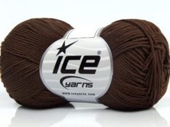 Lot of 8 Skeins Ice Yarns PURE COTTON FINE (100% Cotton) Yarn Brown