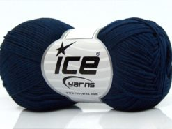 Lot of 8 Skeins Ice Yarns PURE COTTON FINE (100% Cotton) Yarn Navy