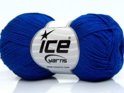 Lot of 8 Skeins Ice Yarns PURE COTTON FINE (100% Cotton) Yarn Saxe Blue