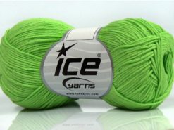 Lot of 8 Skeins Ice Yarns PURE COTTON FINE (100% Cotton) Yarn Pistachio Green