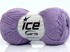 Lot of 8 Skeins Ice Yarns PURE COTTON FINE (100% Cotton) Yarn Light Lilac