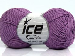 Lot of 8 Skeins Ice Yarns PURE COTTON FINE (100% Cotton) Yarn Lilac