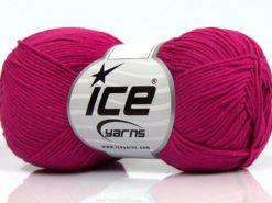 Lot of 8 Skeins Ice Yarns PURE COTTON FINE (100% Cotton) Yarn Fuchsia