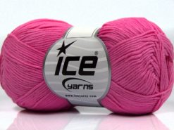 Lot of 8 Skeins Ice Yarns PURE COTTON FINE (100% Cotton) Yarn Pink