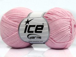 Lot of 8 Skeins Ice Yarns PURE COTTON FINE (100% Cotton) Yarn Light Pink