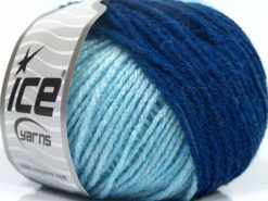 Lot of 8 Skeins Ice Yarns SALE SELF-STRIPING Yarn Turquoise Blue Shades Lilac