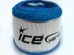 Lot of 2 x 150gr Skeins Ice Yarns SALE CAKES YARN Yarn Turquoise Blue Shades Lilac