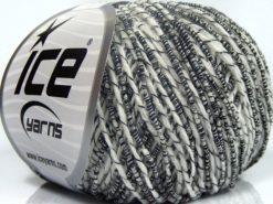 Lot of 8 Skeins Ice Yarns SALE SUMMER Hand Knitting Yarn White Black