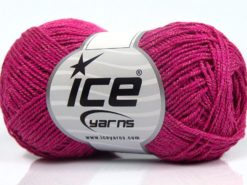 Lot of 8 Skeins Ice Yarns SALE SUMMER (30% Cotton) Hand Knitting Yarn Fuchsia