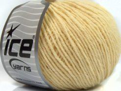 Lot of 8 Skeins Ice Yarns SALE LUXURY-PREMIUM (100% Wool) Yarn Ecru