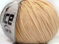 Lot of 8 Skeins Ice Yarns BABY SUMMER DK (50% Cotton) Yarn Dark Cream