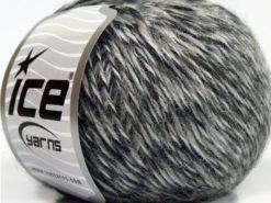 Lot of 8 Skeins Ice Yarns SALE WINTER (30% Wool) Yarn Black Grey Shades