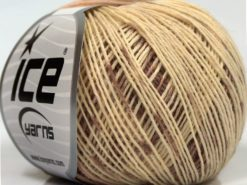 Lot of 8 Skeins Ice Yarns SALE SOCK YARN (75% Superwash Wool) Yarn Rose Brown Cream Beige Light Khaki