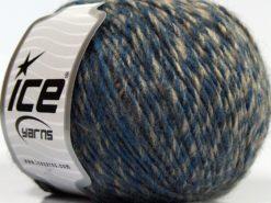 Lot of 8 Skeins Ice Yarns WOOL CORD DK (40% Wool) Yarn Blue Grey Brown Shades