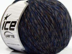 Lot of 8 Skeins Ice Yarns WOOL CORD DK (40% Wool) Hand Knitting Yarn Blue Brown