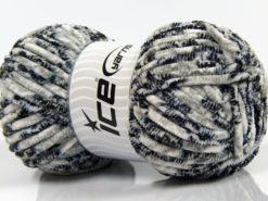 Lot of 4 x 100gr Skeins Ice Yarns CHENILLE BABY SAFARI (100% MicroFiber) Yarn Black Navy Grey Shades