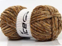 Lot of 4 x 100gr Skeins Ice Yarns CHENILLE BABY SAFARI (100% MicroFiber) Yarn Brown Shades