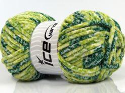 Lot of 4 x 100gr Skeins Ice Yarns CHENILLE BABY SAFARI (100% MicroFiber) Yarn Green Shades
