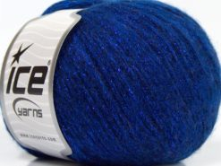Lot of 8 Skeins Ice Yarns NIGHT STAR (17% Wool 7% Viscose) Yarn Saxe Blue