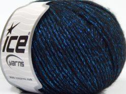 Lot of 8 Skeins Ice Yarns NIGHT STAR (17% Wool 7% Viscose) Yarn Black Turquoise