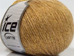 Lot of 8 Skeins Ice Yarns NIGHT STAR (17% Wool 7% Viscose) Yarn Gold
