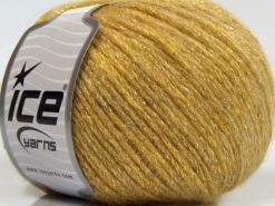 Lot of 8 Skeins Ice Yarns NIGHT STAR (17% Wool 7% Viscose) Yarn Light Gold