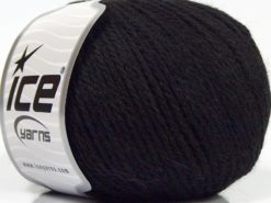 Lot of 8 Skeins Ice Yarns ALPACA LIGHT (18% Alpaca 20% Wool) Yarn Black