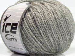 Lot of 8 Skeins Ice Yarns ALPACA LIGHT (18% Alpaca 20% Wool) Yarn Light Grey