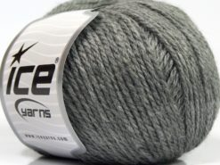 Lot of 8 Skeins Ice Yarns ALPACA LIGHT (18% Alpaca 20% Wool) Yarn Grey