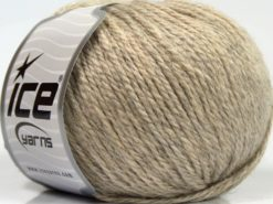 Lot of 8 Skeins Ice Yarns ALPACA LIGHT (18% Alpaca 20% Wool) Yarn Beige Melange