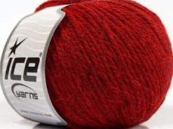 Lot of 8 Skeins Ice Yarns ALPACA LIGHT (18% Alpaca 20% Wool) Yarn Red